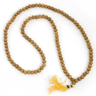 Medium Sandalwood Prayer Mala 8mm - $9.86  Carved of sandalwood, this prayer mala is intended to be held in one hand while one speaks a prayer, or mantra.