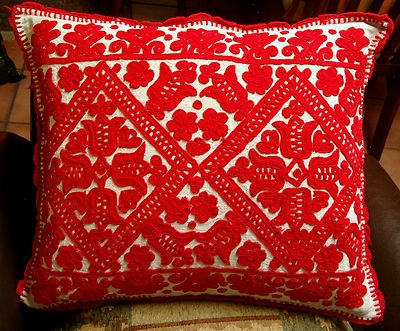 Vintage Hungarian folk pillow