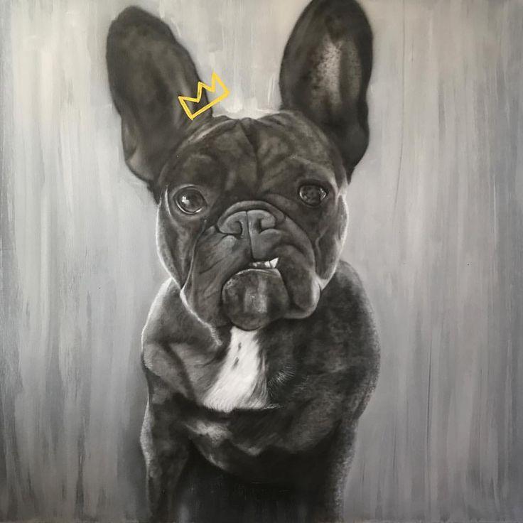 @Jmunz549 French Bulldog Painting.