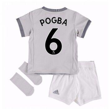 Manchester United Paul Pogba 6 kläder Barn 17-18 Tredje Tröja Kortärmad  #Billiga #fotbollströjor