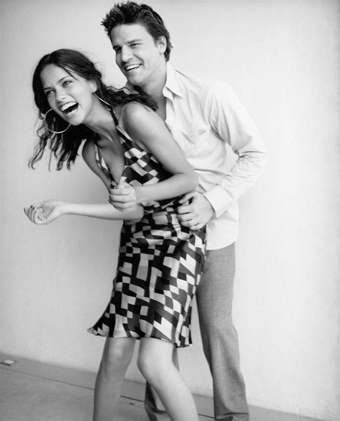 Adriana Lima (Adriana Lima) et David Boreanaz (David Boreanaz) dans une séance photo Pamela Hanson (Pamela Hanson) pour le magazine Glamour (2000) Photo 5