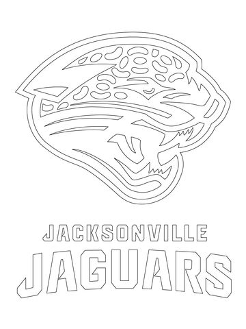 Jacksonville Jaguars Logo coloring page from NFL category. Select from 24104 printable crafts of cartoons, nature, animals, Bible and many more.