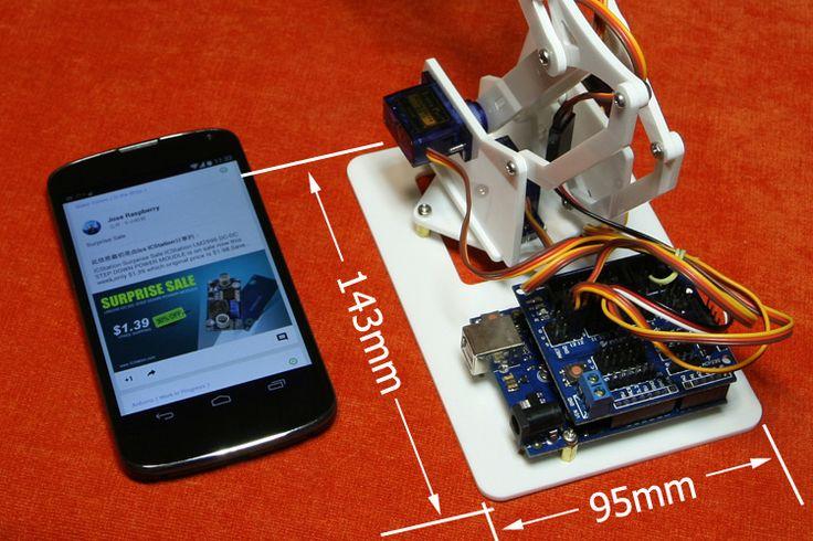4DOF DIY MiniArm Robot Manipulator Robot Arm with Arduino UNO R3