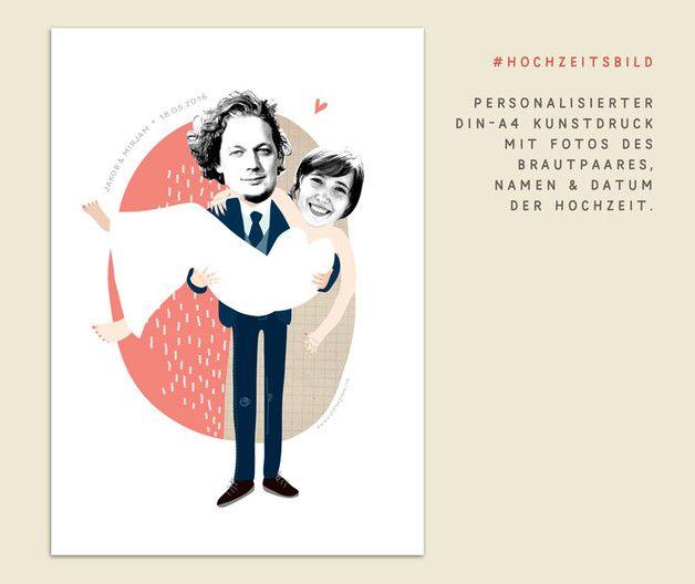 Gastgeschenke - Hochzeitsgeschenk, individualisiert, Foto- Bild - ein Designerstück von stiften-gehen bei DaWanda