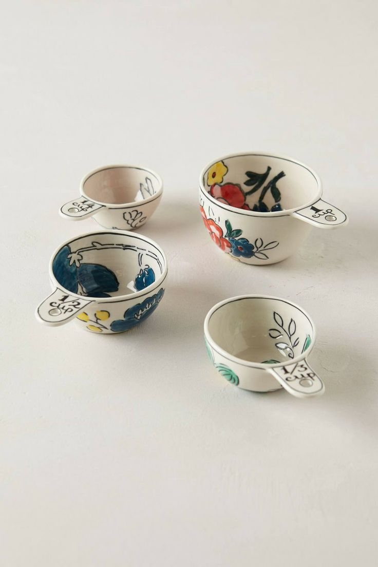 Anthropologie  Garden Sketch Measuring Cups