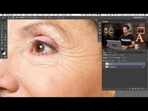 Phlearn Photoshop по-русски: Как убрать морщины в фотошопе - YouTube