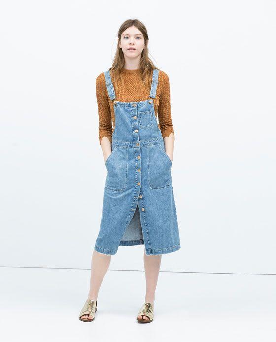 Long dress zara overalls