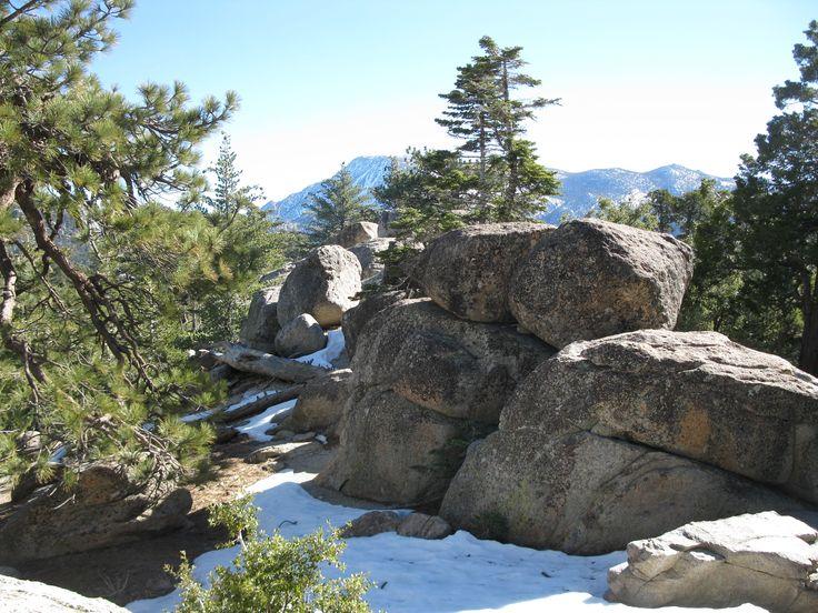 Black Boulders on Mountain