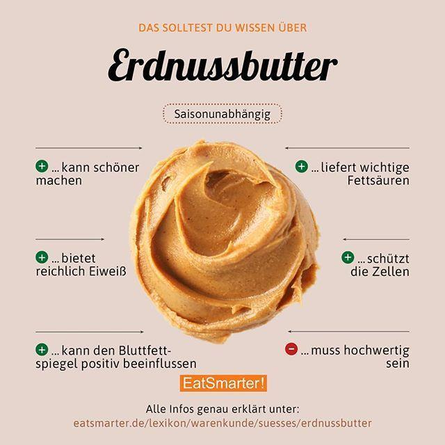 Wir lieben Erdnussbutter! Ihr auch? So könnt ihr sie euch auch ganz einfach selber machen: eatsmarter.de/ernaehrung/gesund-ernaehren/erdnussbutter-selber-machen-smarter Zur klickbaren Infografik: eatsmarter.de/lexikon/warenkunde/suesses/erdnussbutter – Bernd