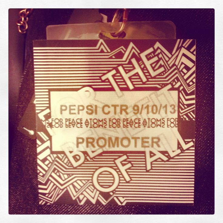 Atoms for peace backstage pass