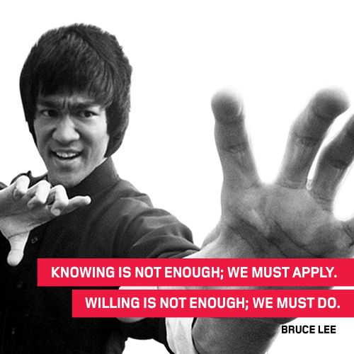 Our #ThoughtOfTheWeek for the 27th of April 2015, comes from Bruce Lee. #Quote #BruceLee #MartialArts