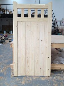 Wooden gates Timber gates Driveway gates Slatted Belvoir Side Entrance Gate | eBay Painted Green :)