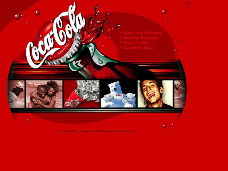 Coca Cola website 2000