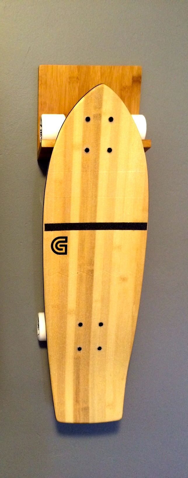 27 best display your longboard skateboard images on pinterest bamboo wood skateboard wall rack amipublicfo Images