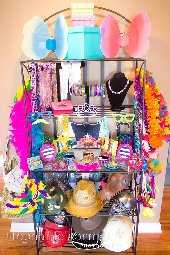 Dress-up theme birthday party - SO fun!!