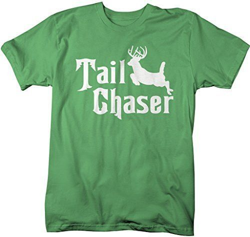Shirts By Sarah Men's Funny Hunting T-Shirt Tail Chaser Deer Offensive Shirt