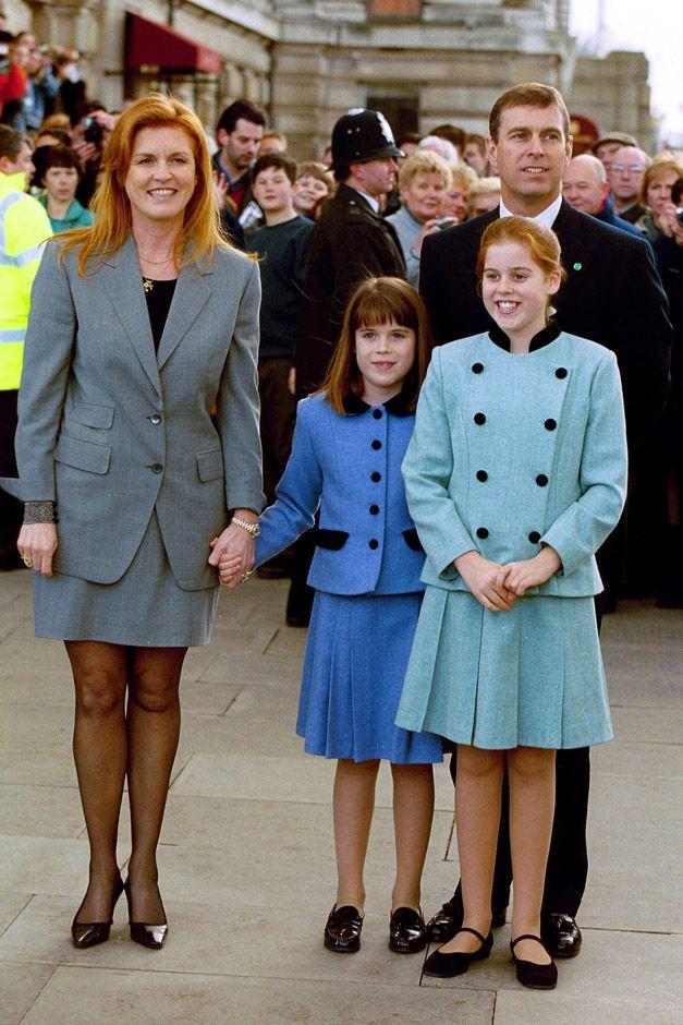 1425-Sarah Duchess of York, Princess Eugenie, Prince Andrew Duke of York and Princess Beatrice