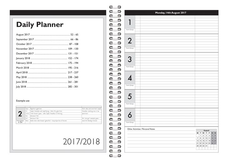 14 best Planners \ Exercise Books images on Pinterest Organizers - sample student agenda