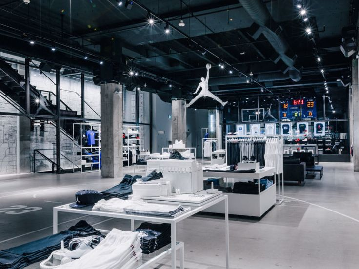 Inside the new Jordan store, with a customization centre, barbershop and training facility