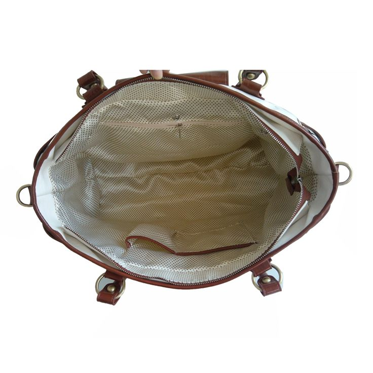 Inside view of the Duchess leather changing bag.