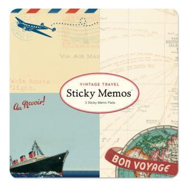 Sticky Memo Vintage Travel - Bobangles.  #Bobangles #travel #design #gift #Australia