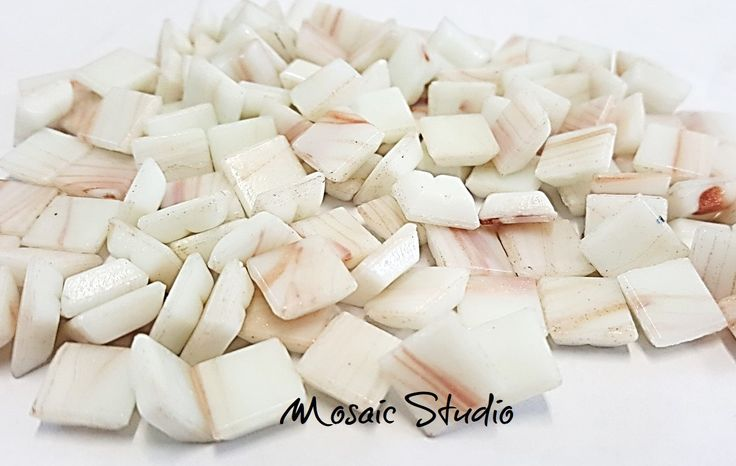 White Gold Thread Tiles 10x10x4mm x100pc by MosaicStudio1 on Etsy
