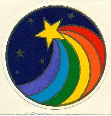 i love the idea of a rainbow coming out of the shooting star.. kinda rainbow brite stylee.