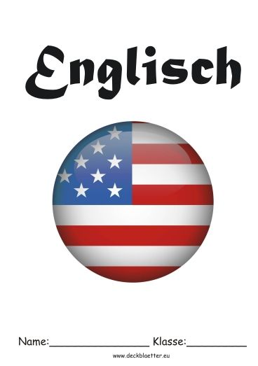 Deckblatt Englisch Unterricht Schule Pinterest