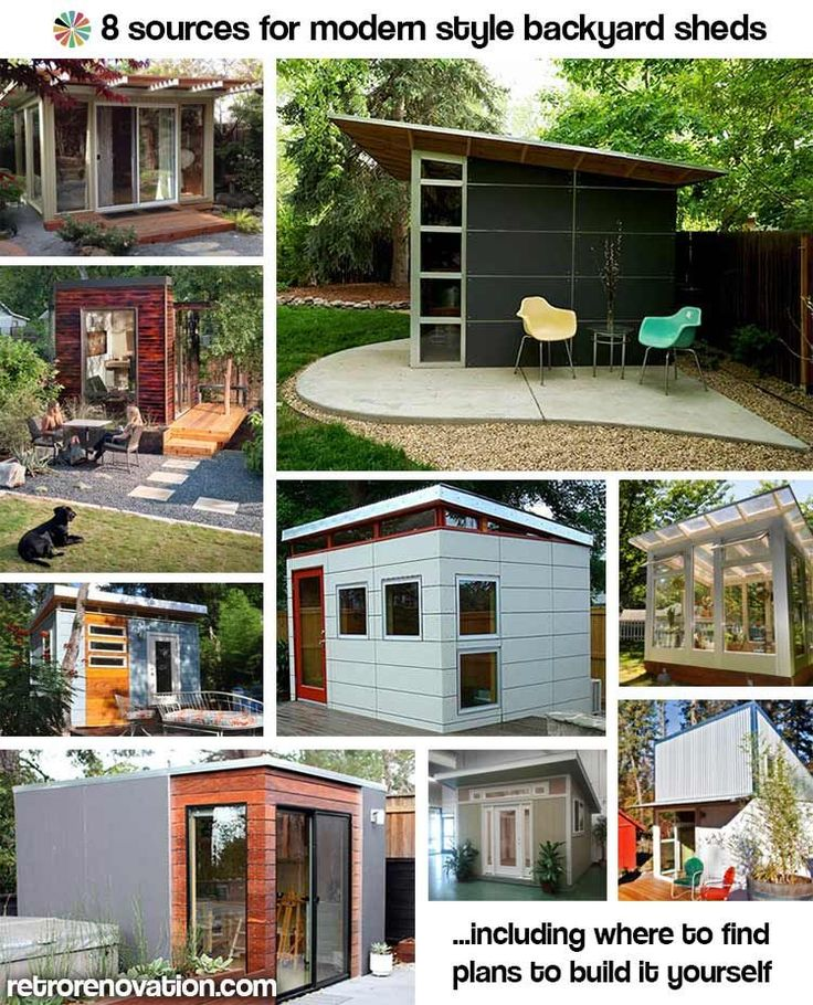 8 sources for modern style backyard sheds