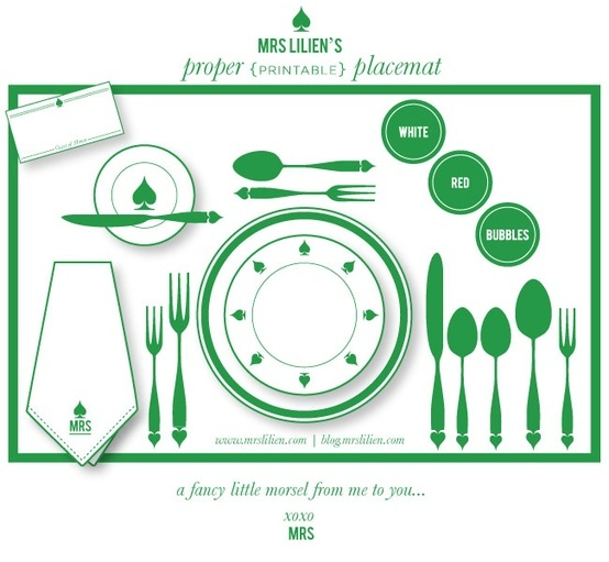 proper place setting (if you didn't know already)