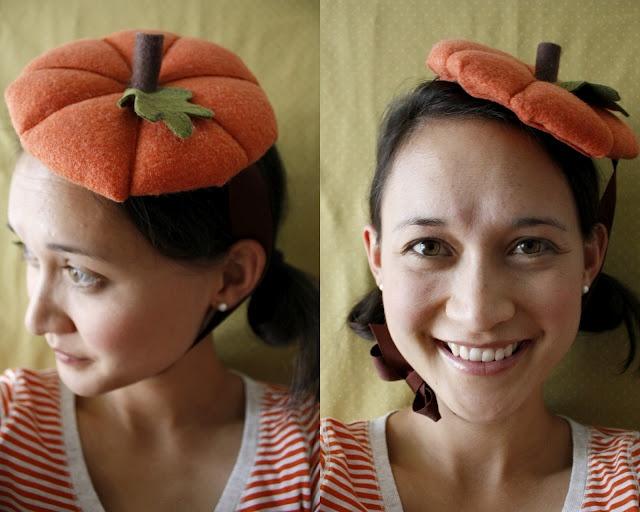 DIY Pumpkin Hat #Pumpkins #Halloween #DIY #Costumes #HalloweenCostume  www.facebook.com/PumpkinPatchTV