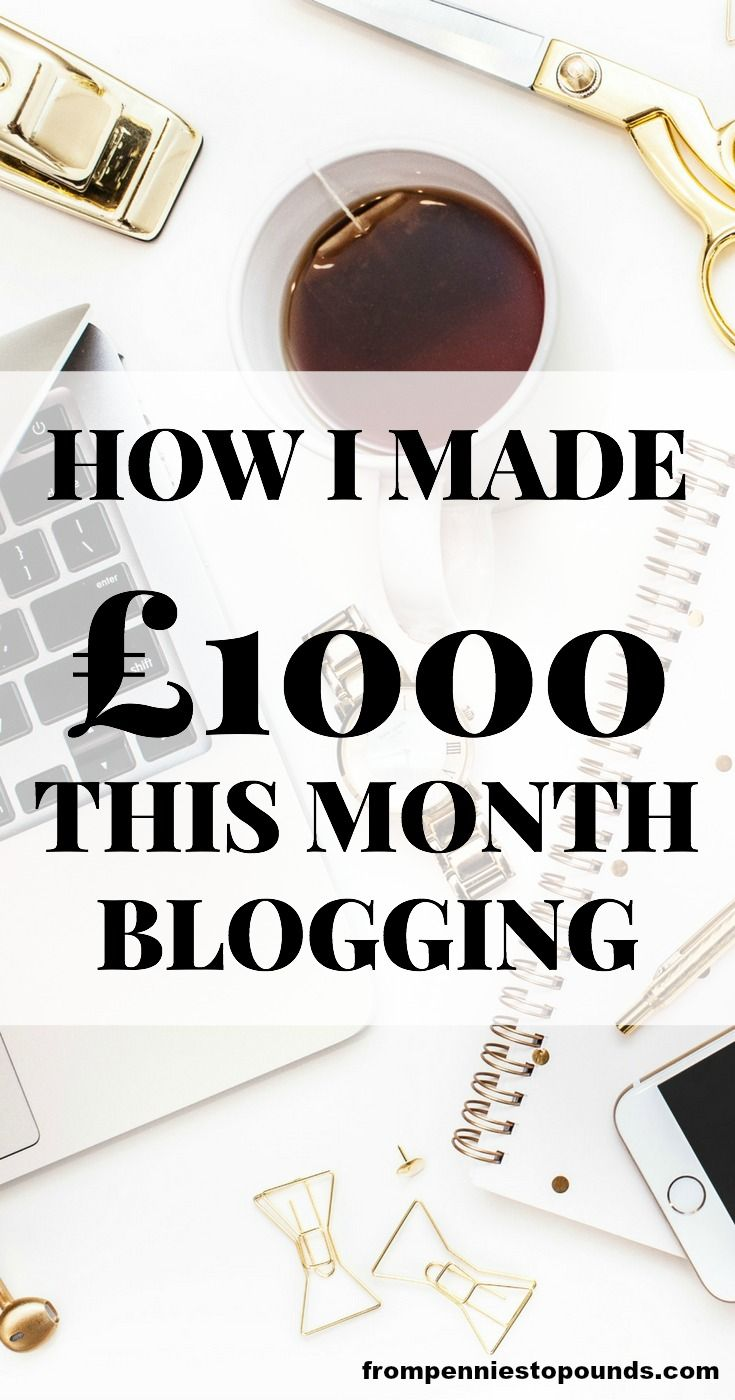 Blogging income report - see how much I earned after a year of blogging! Make extra money from home. Read more here: https://www.frompenniestopounds.com/12-month-blogging-side-hustle-income-report/  https://www.frompenniestopounds.com/12-month-blogging-side-hustle-income-report/
