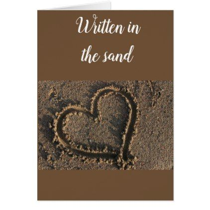IT'S IN THE SAND-NO WAVE CAN TAKE IT LOVE CARD - anniversary gifts ideas diy celebration cyo unique