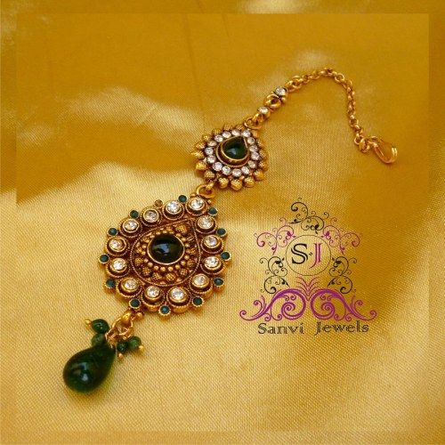 Pear Shaped Green & Zircon Tikka