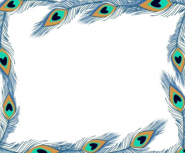 Peacock Feathers Frame Free Stock Photo
