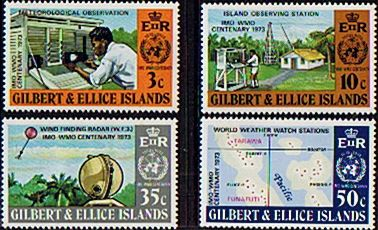 Gilbert and Ellice Islands 1973 Meteorology Set Fine Mint SG 223/6 Scott 218/21 Other Pacific Islands Stamps HERE