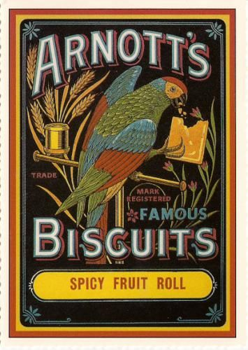 """Honesty is the best policy"" - motto of Arnott's Biscuit Company / ""On his T is the best polly ... see?"" / cute"