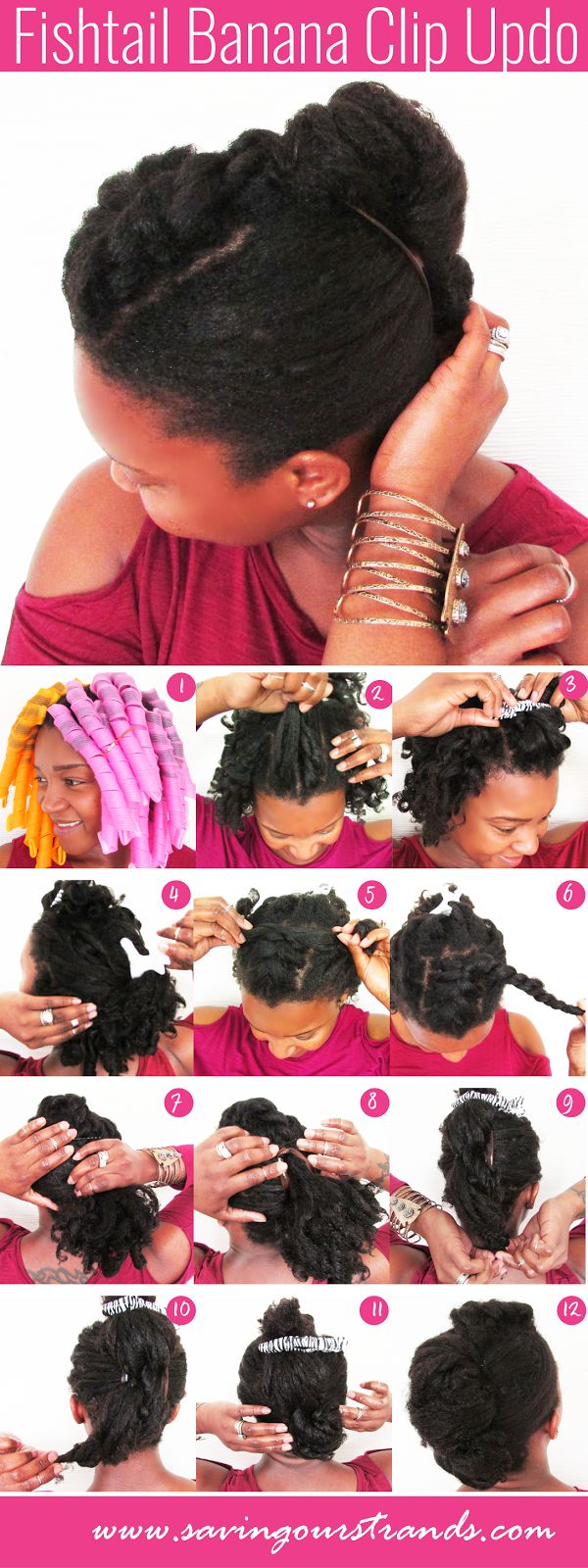 Gorgeous and easy updo for #naturalhair #washdayexperience @Savingourstrand