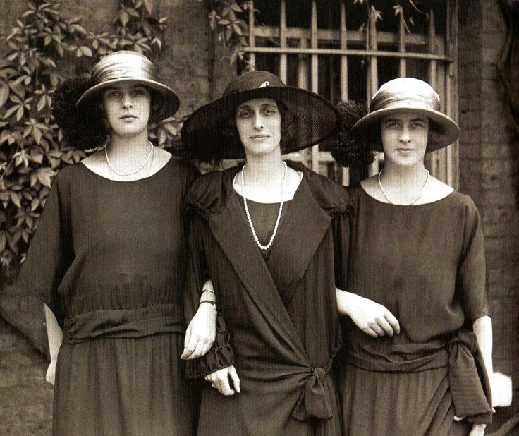 royalist: Crown Princess Louise of Sweden, formerly Lady Louise Mountbatten, with her nieces Princesses Princess Theodora and Margarita of Greece and Denmark, elder sisters of Prince Philip, Duke of Edinburgh, July 1, 1923