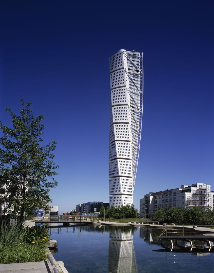 The skyscraper Turning Torso in Malm Sweden a residential tower in glass  and steel designed by architect Santiago Calatrava won the 2015 CTBUH 10  Year ...