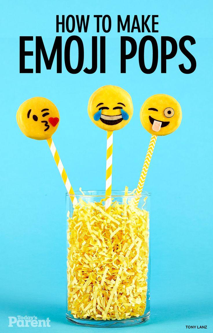 How to make Emoji Cookie Pops ~~ Emoji Birthday Party