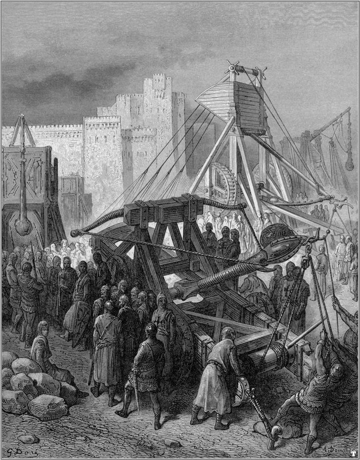 The Crusaders' War Machinery - Gustave Dore