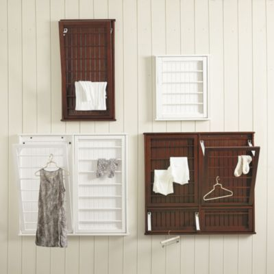 Beadboard Drying Rack | Ballard Designs….possibly on the extra wall on one side of hanging rod