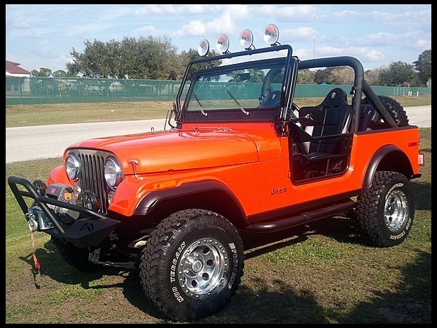 1979 Jeep CJ-7 in a orange color that really pops!