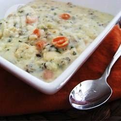 Romige kippensoep met wilde rijst @ allrecipes.nl