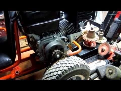 Go Kart powered by Harbor Freight Predator engine - YouTube