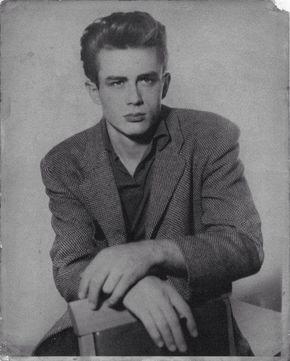 a rare photo of James Dean