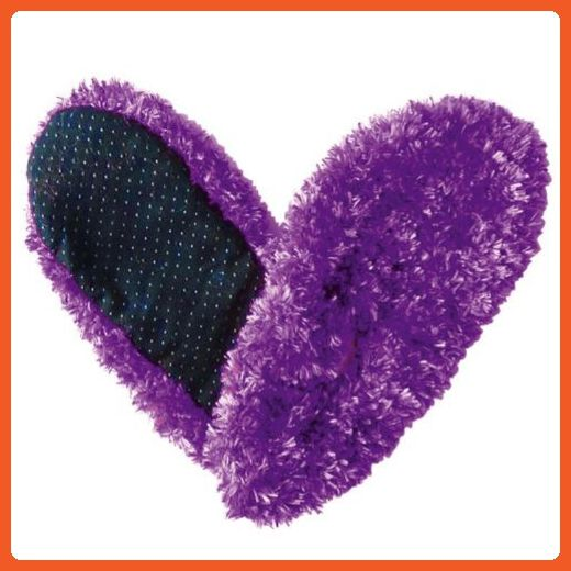 Fuzzy Footies Super Soft Slippers with Slip-Resistant Bottom - One Size Fits Most (Purple) - Slippers for women (*Amazon Partner-Link)