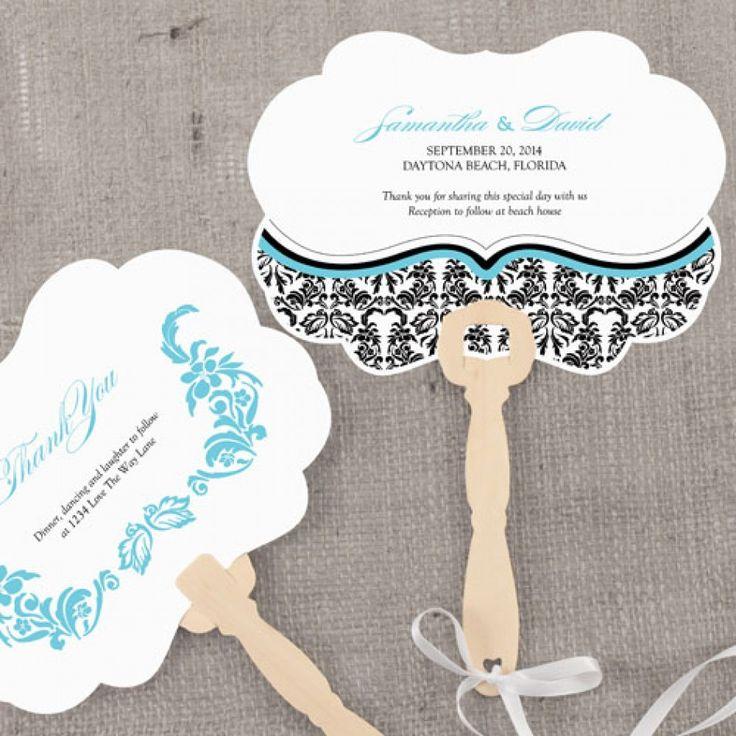 224 best Wedding Program Fans images on Pinterest Wedding fans