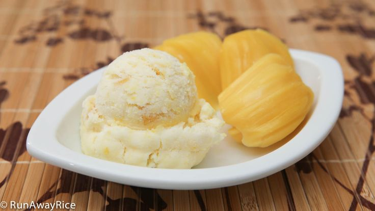 Homemade Jackfruit Ice Cream --use fresh, frozen or canned jackfruit to make the ice cream. It all works to make this easy and delicious treat.